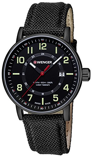 ATTITUDE DAY&DATE Men's watches 01.0341.111 Day Date Wenger Swiss Watch
