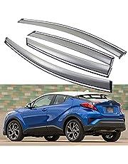 SPEEDLONG 4Pcs Car Window Visor Vent Shade Deflector Sun/Rain Guard Compatible with Toyota C-HR 2017 2018 2019