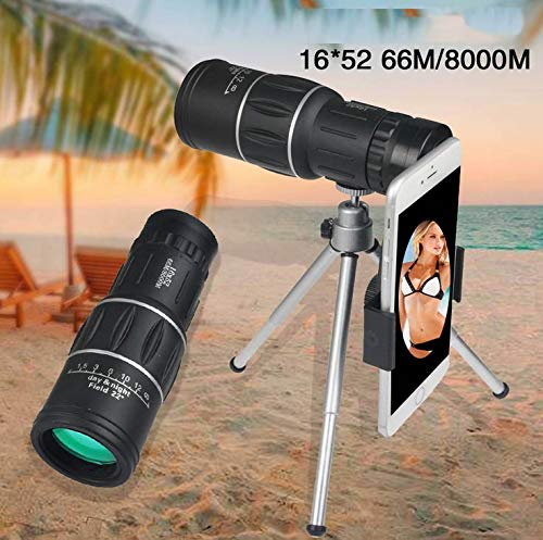DishyKooker 16X52 High Power HD Monocular Telescope Lens with Night Vision for All Outdoors by DishyKooker