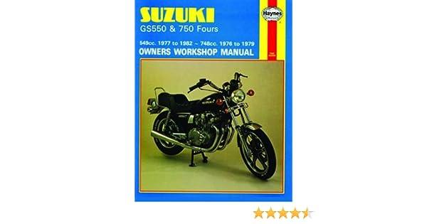 amazon com suzuki gs550 and 750 haynes repair manual 1976 1982 rh amazon com suzuki gs 550 l manual suzuki gs 550 e service manual pdf