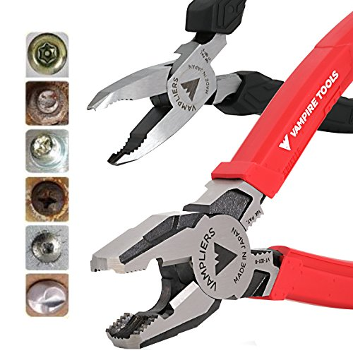 VamPLIERS World's Best Pliers VT-001-S2F Rusted/Damage/Security Screw Extraction Pliers Best Holiday Christmas Gift Ideal for Corporate/Friends and Family Gifts that last beyond Christmas season! from VAMPIRE PROFESSIONAL TOOLS