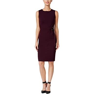 624b5a170ea9 Image Unavailable. Image not available for. Color  Calvin Klein Womens  Petites Side-Buckle Wear To Work Dress ...