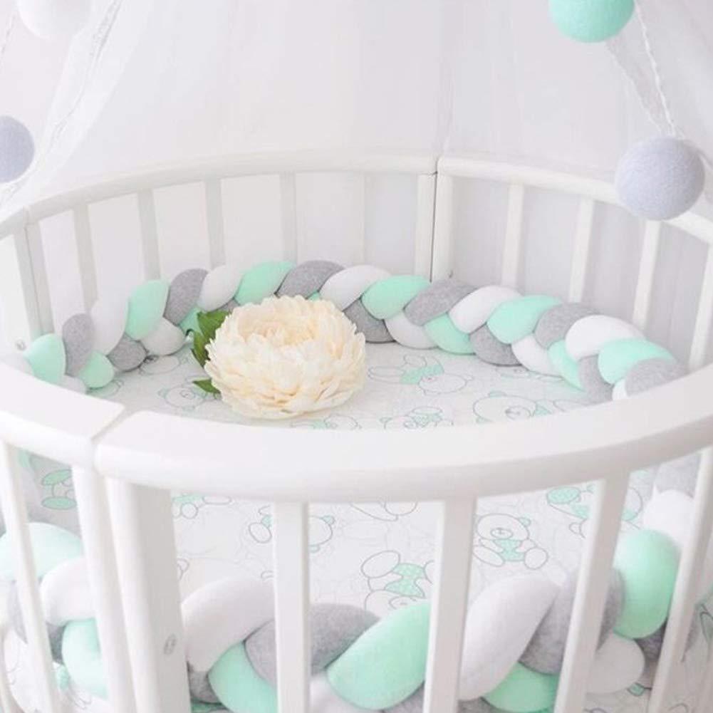 2 m // 3 m handgewebt sch/ützt das Baby Pl/üsch Baby Nestchen//Bettumrandung f/ür Babybett geknotet