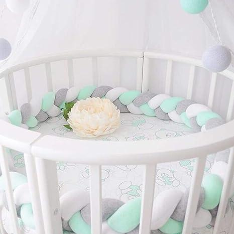 Tour de lit tressé en polaire pour bébé, berceau, décoration, protection  pour bébé, 2 m/3 m