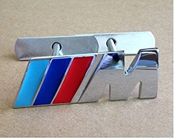 Insignia BMW serie M Sport Power Tech Frontal Metal Cromado Rejilla Parrilla Emblema: Amazon.es: Coche y moto