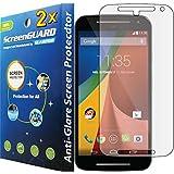 GuarmorShield 2x Motorola Moto G2 G 2 2nd Gen XT1063 XT1064 XT1068 Premium Anti-Glare Anti-Fingerprint Matte Finishing LCD Screen Protector Cover Kit (Package by GUARMOR)