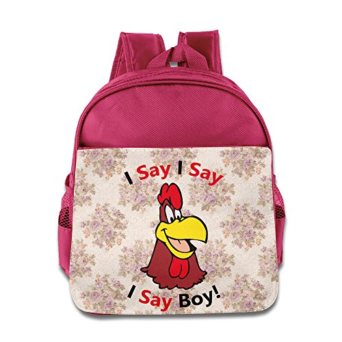 Kids Foghorn Leghorn Chincken Say Boy Small Backpack (2 Color:Pink Blue) - Austin And Ally Costumes For Kids