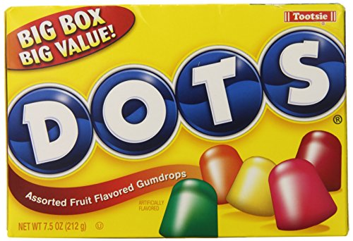 - Tootsie Dots Assorted Flavors, 7.5oz Theater Box