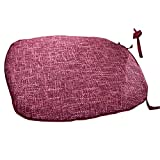 Noblidonna 18'' x 17'' Memory Cotton Nonslip Square Buttocks Seat Chair Pads Cushion Pillow Removable YD002-6 Red