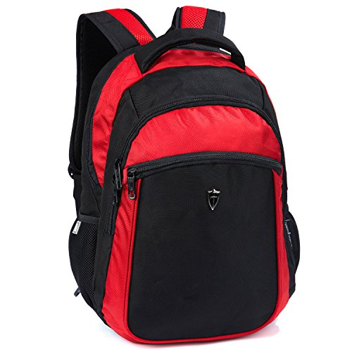 Victoriatourist V6003 Unisex Laptop Computer Backpack Fits Most 15.6-Inch Laptops, Red