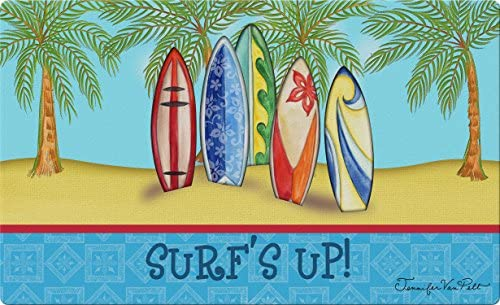 Toland Home Garden 830255 Surf s Up 18 x 30 Recycled Mat, USA Produced