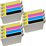 3 Set of 4 Inkfirst® 124 Ink Cartridges Compatible Remanufactured for Epson 124 Black, 124 Cyan, 124 Magenta, 124 Yellow (Moderate Capacity) Stylus NX330 NX420 NX430 NX125 NX127 NX130 NX230 WorkForce 320 323 325 435 T1241, T1242, T1243, T1244