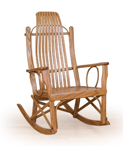 Rustic Bent Oak Rocker- All Oak - Amish Made