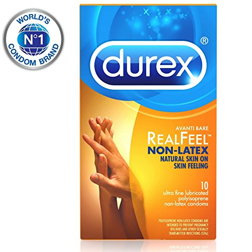 Condoms, Non-Latex Durex Avanti Bare RealFeel Condom, 10 ct HSA Eligible (Best Condoms For Uncircumcised)
