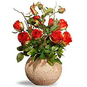 National Tree Company Blooming Roses Silk Flower 106