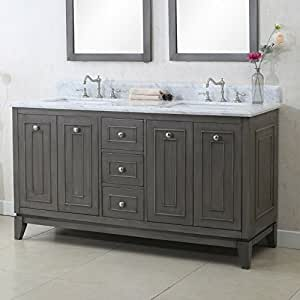 Legion furniture wlf7034 60 60 sink vanity cabinet match with wlf6036 61 top without faucet for 60 bathroom vanity without top
