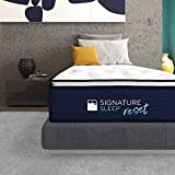 "Signature Sleep Reset 12"" Nanobionic Pillow Top Hybrid Mattress, Twin"