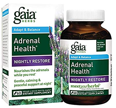 Gaia Herbs Adrenal Health Nightly Restore Supplement