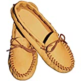 Realeather Crafts Leathercraft Kit Scout Moccasin-Size 12/13, Golden Brown, 12/13-Size