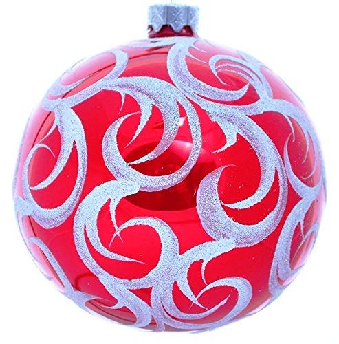 Wise Elk Christmas Ornament Glass Ball Hand Blown Hand
