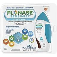 Flonase Sensimist 24hr Allergy Relief Nasal Spray, Gentle Mist, Scent-Free, 120 sprays