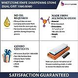 Whetstone Knife Sharpening Stone Set | Dual Grit