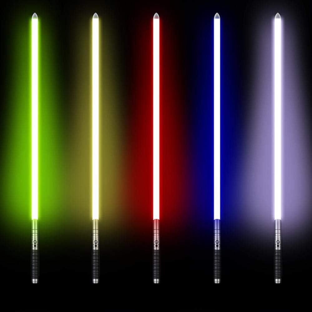 BTYKJ Star Wars Luce Sword Effetto Multi-Suono Illuminazione Manico in Metallo Puntelli Giocattolo Regalo Luce Monocromatica Silver handle blue light