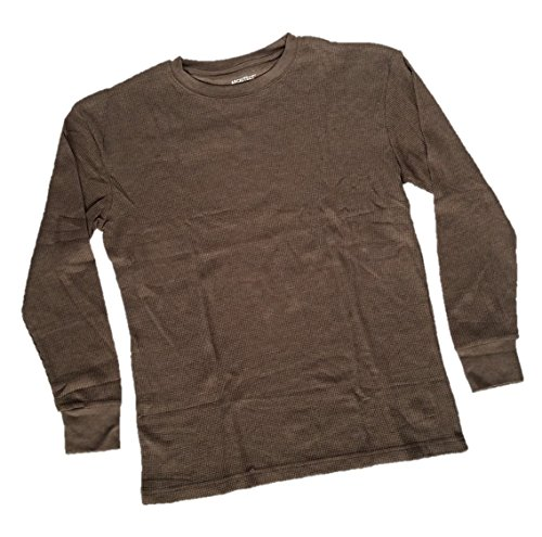 Architect Jean Company Men's Long Sleeve Thermal Crew, Heather Brown, Large