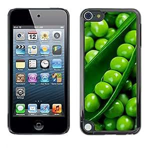 Jordan Colourful Shop - Peas Diet Healthy Green Food For Apple iPod Touch 5 Personalizado negro cubierta de la caja de pl????stico