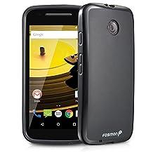 Fosmon® Motorola Moto E Case (DURA-FRO) Slim-Fit Flexible TPU Gel Case Cover for Motorola Moto E (2nd Gen, 2015) - Fosmon Retail Packaging (Black)