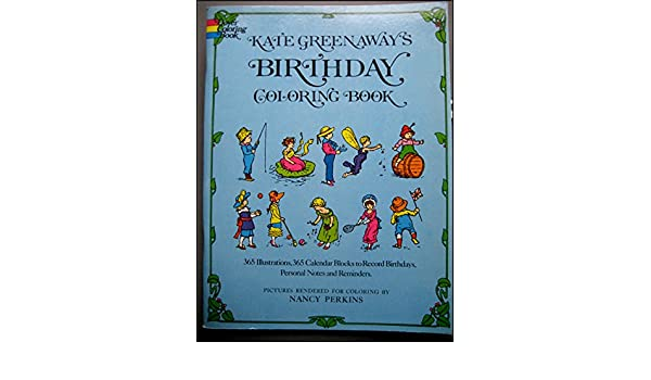 Kate Greenaway\'s Birthday Coloring Book (Colouring Books): Kate ...