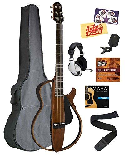 Yamaha SLG200S Steel String Silent Guitar Bundle with Gig Bag, (Silent Steel String Guitar)