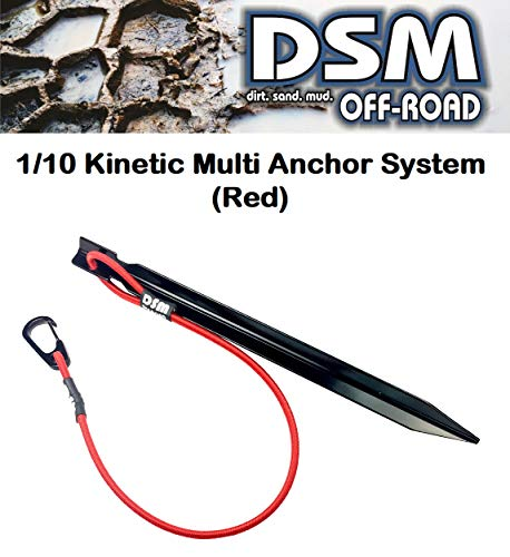 1/10 Scale RC Kinetic Multi Anchor System - by DSM Off-Road (Red) -