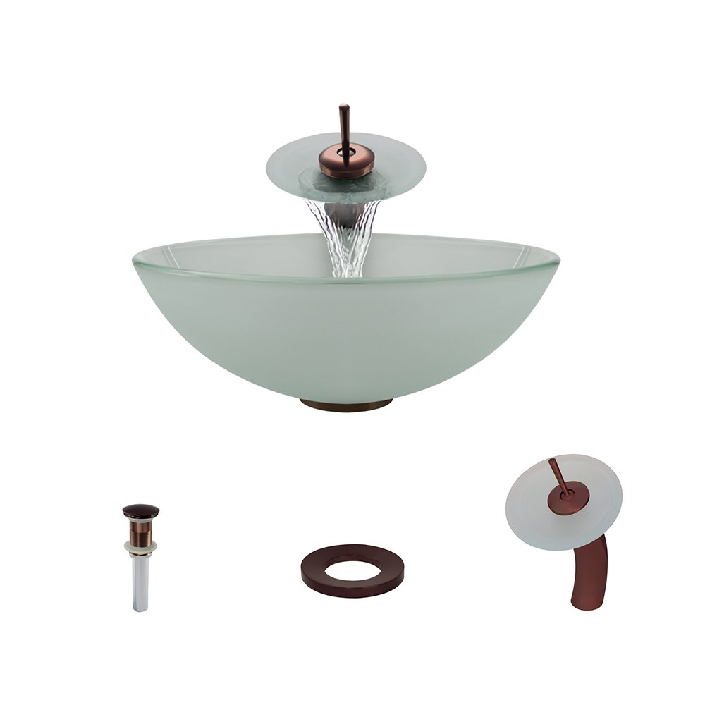 602 Oil Rubbed Bronze Waterfall Faucet Bathroom Ensemble