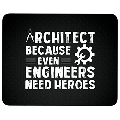 I'm An Engineer Mouse Pad, I'm An Architect great gift idea Mousepad(Mouse Pad - Black)]()