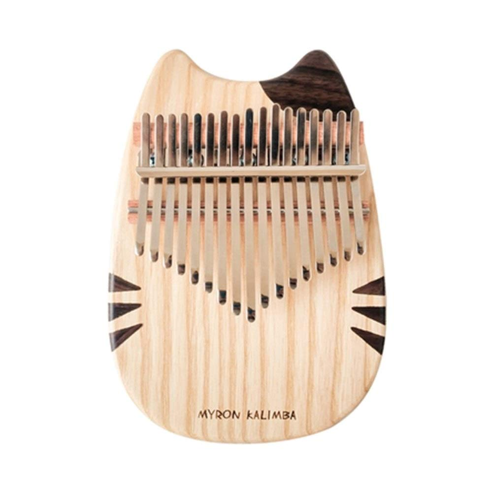 CHENTAOCS Thumb Piano, 17-tone Beginner Plate Cat Thumb Piano, Finger Piano, Good Quality, Durable, Self-use, Gift-giving High-end Grade (Color : Natural) by CHENTAOCS