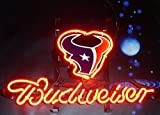 Desung Brand New 14''x10'' B udweiser Sports League H-Texans Neon Sign (Various Sizes) Beer Bar Pub Man Cave Glass Neon Light Lamp BW101