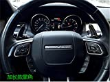 Ushopkins Steering Wheel Aluminum Alloy Shift Plate For Land-Rover Evoque Discovery Range Rover Jaguar XLF