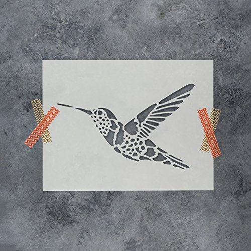 87afadc75fe956 Amazon.com: Hummingbird Stencil Template for Walls and Crafts - Reusable  Stencils for Painting in Small & Large Sizes