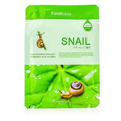 Farm Stay - Visible Difference Mask Sheet - Snail - 10x23ml/0.78oz B00WIK22JW