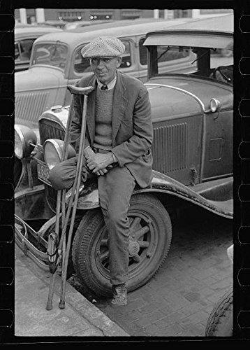 Photo: War veteran who sells pencils,Omaha,Nebraska,NE,November 1938,John - Shopping Ne Omaha