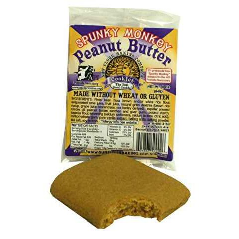 Gluten Free Peanut Butter Cookie, Vegan, Organic, Individually Wrapped - 3 oz (Pack of 30) by Sun Flower Baking Company