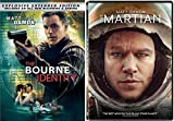 Matt Damon 2-Movie Collection - The Martian & The Bourne Identity (Explosive Extended Edition) 2-DVD Bundle