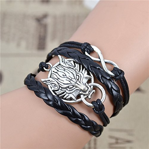 Fashion Infinity Bracelet Leather Courage product image