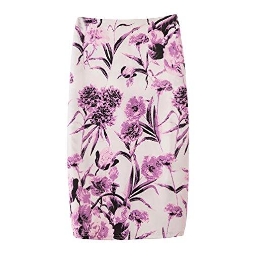 Yuanu Femme Doux Confortable Jupe Courte Serre Mode Impression Numrique Zipper Jupe Moulante Impression Style 28