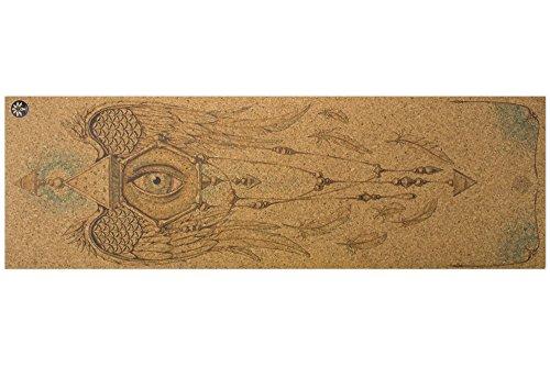 Yoloha Cork Yoga Mat Mind of the Universe Nomad Cork Travel Yoga Mat, Non Slip, Sustainable, Soft, Durable, Foam, Highest Quality, Premium, Handmade, Moisture Resistant – 72″ x 24″, 4.5 mm thick
