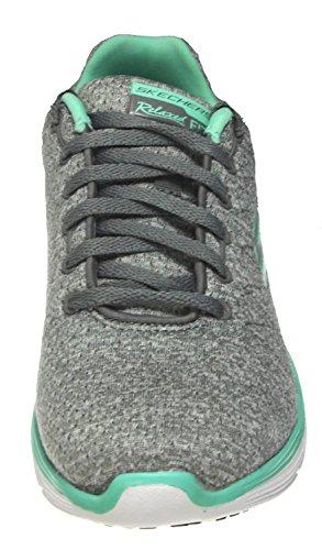 Skechers Di Sport Donne Valeris Moda Sneaker Grigio / Menta