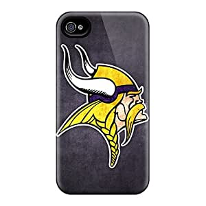 Premium EoL2883VvAG Case With Scratch-resistant/ Minnesota Vikings 7 Case Cover For Iphone 4/4s