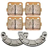 Front and Rear Brake Pads Shoes for Honda Rancher 420 TRX420 2007-2015