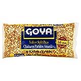 Goya Yellow Split Peas Chana Dal 16 Oz. Pack Of 3.